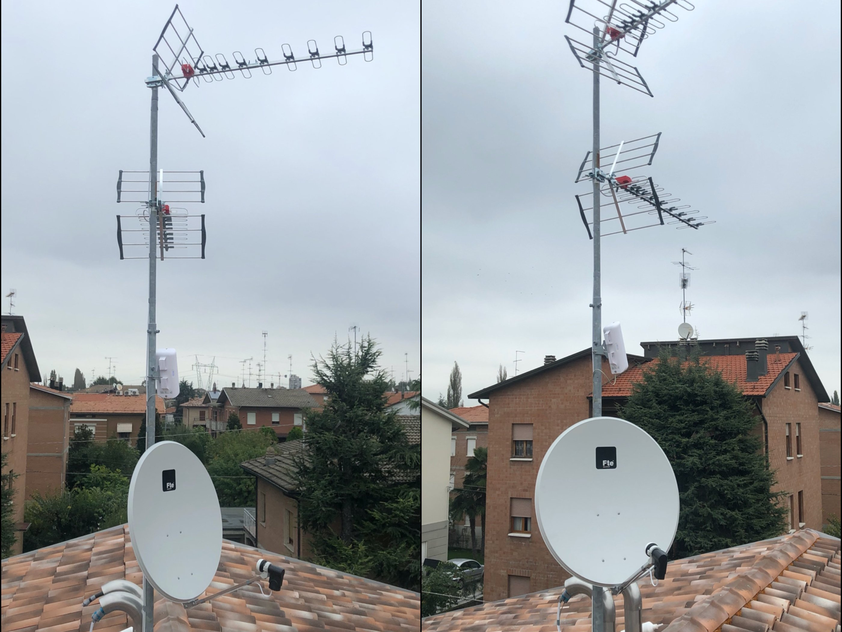 Collage antenne